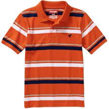 striped home decor fabric wrangler boys u0027 long sleeve hangdown stripe polo shirt walmart com