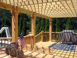 wood deck design with pergola by suburb of chicago deck builder