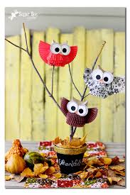 owl centerpieces owl centerpiece display sugar bee crafts