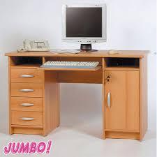 Pc Schreibtisch Buche Schreibtisch Trio 2 Buche Dekor Pc Tisch Computertisch Ebay