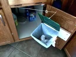 garbage can under the sink under sink trash can with lid under cabinet trash kitchen garbage