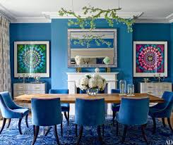 blue dining room table what s on pinterest keep calm with these blue dining rooms