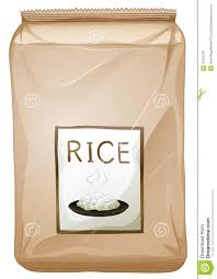 a packet of rice stock vector illustration of graphic 41601576