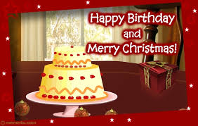 happy birthday and merry christmas card christmas birthday cards