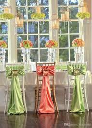 2017 two color orange and green wedding decorations ribbon