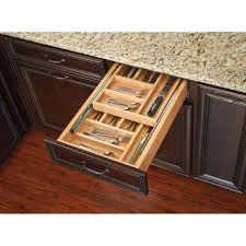 wood tiered drawer storage tags two tier kitchen drawer