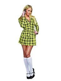 clueless costume dreamgirl women s fancy girl yellow plaid clueless
