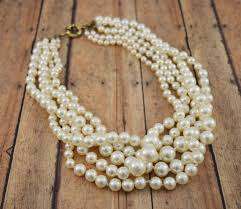 pearl necklace jewelry store images Multi strand faux pearl necklace bauble bliss online store JPG