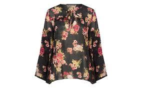 print blouse bell sleeve floral print blouse