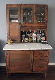 Diy Bar Cabinet Hoosier Cabinet An Abomination To Turn It Into A Bar But Some