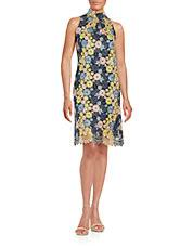 xscape sweetheart floral lace dress lordandtaylor com