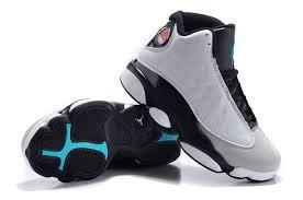 kid jordans kids 13 retro hologram wolf grey white black shoes