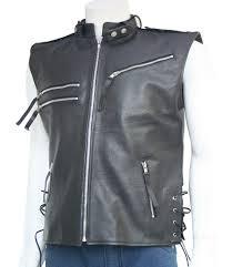 biker jacket vest men u0027s leather biker vest sleeveless leather jackets u2013 leather