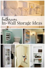 Bathroom Storage Wall Remodelaholic 25 Brilliant In Wall Storage Ideas For Every Room