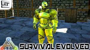 ark survival evolved gold armor e41 gameplay youtube