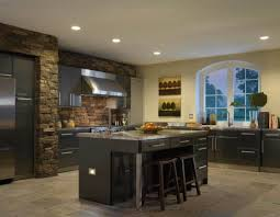 kitchen with black cabinets and stainless steel appliances and