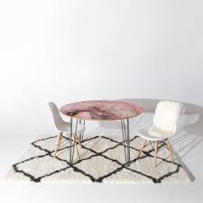 emanuela carratoni pale pink agate round table deny designs home