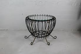 Vintage Wrought Iron Patio Furniture For Sale by Coffee Table 62 Off Black Wrought Iron Glass Coffee Table Tables