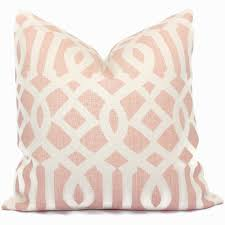 schumacher blush pink imperial trellis decorative pillow