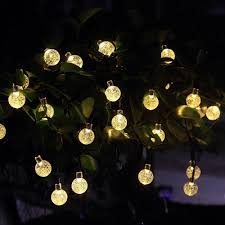 solar globe lights garden innoo tech solar outdoor string lights 19 7 ft 30 led fairy light