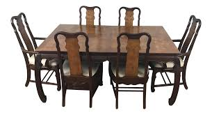 chinese chippendale style dining table u0026 six chairs 7 pieces