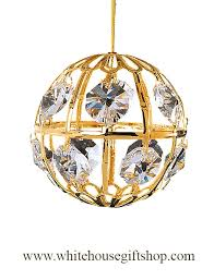 missing outer box polybagged ornament gold world globe ornament