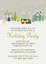custom holiday houses christmas party invitation winter snow