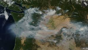 Washington Wildfire Area by Cliff Mass Weather And Climate Blog Large Smoke Cloud Heads For