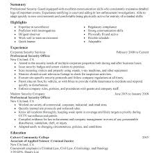 security job resume samples u2013 topshoppingnetwork com