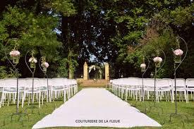 Arche Fleurie Mariage Mariage Rose Poudré Et Or Au Château Sainte Cécile Artisan