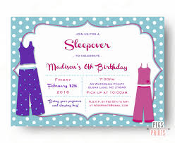 sleepover party invites sleepover invitation printable pajama party invitation