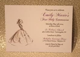 Invitation Card For Holy Communion First Holy Communion