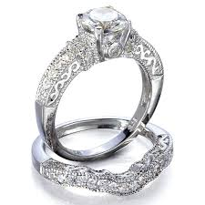 vintage style wedding band style engagement rings