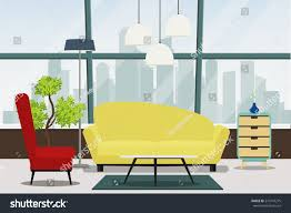 modern living room interior furniture sofa stock vector 575747275