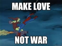 Make A Spiderman Meme - make love not war 60s spiderman meme quickmeme