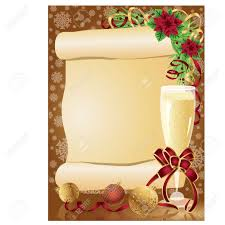 Christmas Invitation Cards Template Christmas Card With Scroll Vector Royalty Free Cliparts Vectors