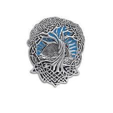 blue sky w sun celtic knot tree of silver pendant silver