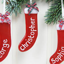 personalised christmas stocking tree decoration wedding decor