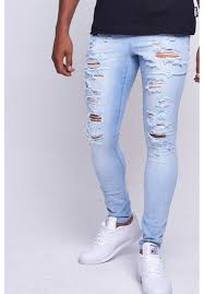 mens light blue jeans skinny light blue heavy rip skinny jeans jaded jaded london
