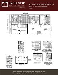 schult modular home floor plans schult independence 5628 378 excelsior homes west inc