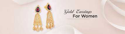 gold ear ring image buy gold earring for women online malabar gold diamonds