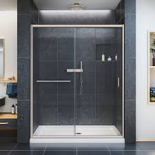 dreamline infinity z 56 60 in width frameless sliding shower