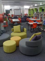 comfy library chairs from the back teen spaces and school