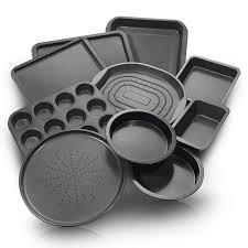 amazon com chefland 10 piece non stick bakeware set oven crisper