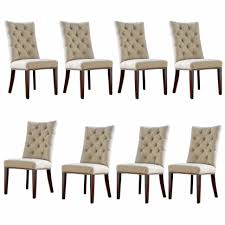 White Tufted Dining Chairs Dining Room Round Dining Table Set White Tufted Dining Chairs