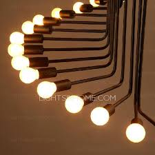 Creative Light Fixtures 26 Light Wrought Iron Black Whimsical Chandeliers