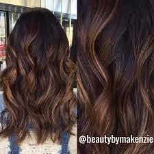 balayage caramel highlights brunette hair pinterest