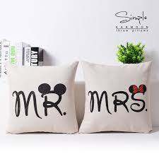 mr and mrs pillows aliexpress buy pillow cover creative wedding
