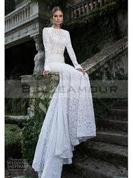 robe de mariã e manche longue dentelle de mariée de luxe dentelle longue blanche manche sirène taîne longue