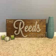 wedding gufts cursive family established sign with year by seasonofseeking